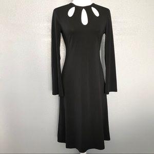 Michael Kors Keyhole A Line Long Sleeve Dress